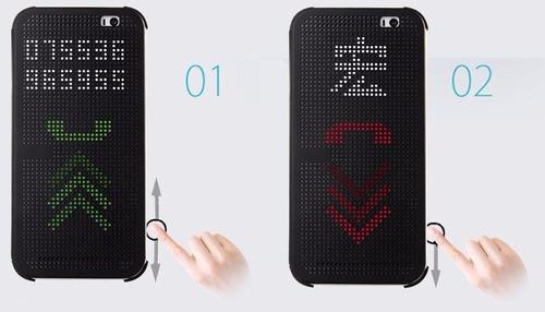 htc one e9 plus forro estuche flip dot view smart cover