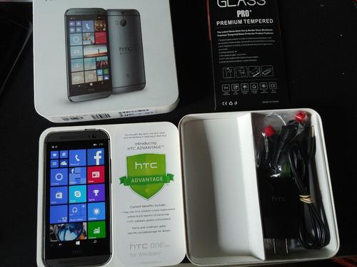 htc one m8, windows, en caja completo y regalos roymar!!