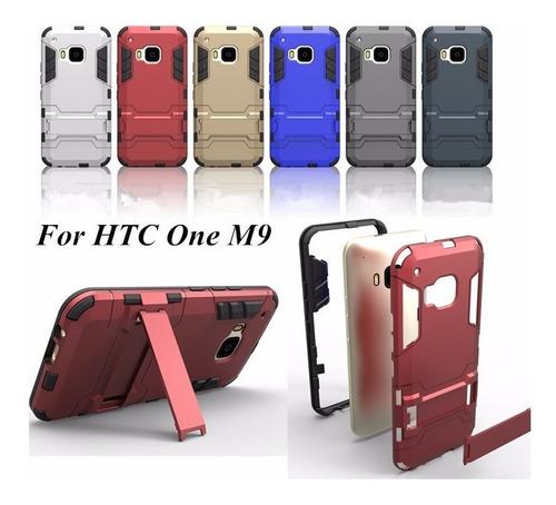 htc one m9 funda dual armadura hybrida clip de stand otter