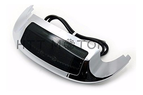 Front LED Fender Tip Light Smoked Lens Compatible with Harley Street Glide FLHX FLHXS 14-17 HTTMT MT438F-14