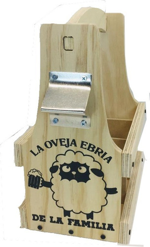 huacal canasta porta botellas de cerveza beer caddy six pack