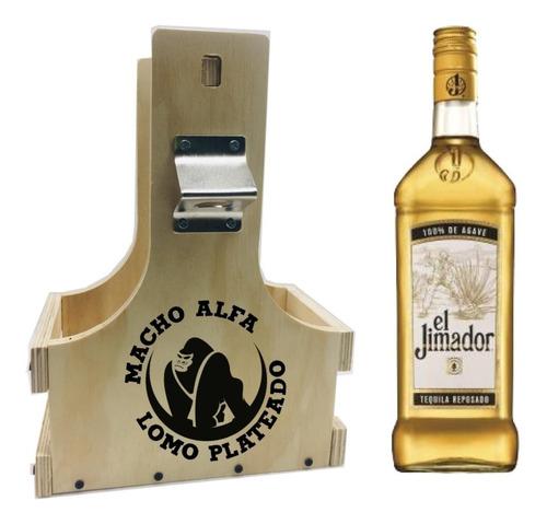 huacal porta cerveza o porta vino para 2 botellas grandes