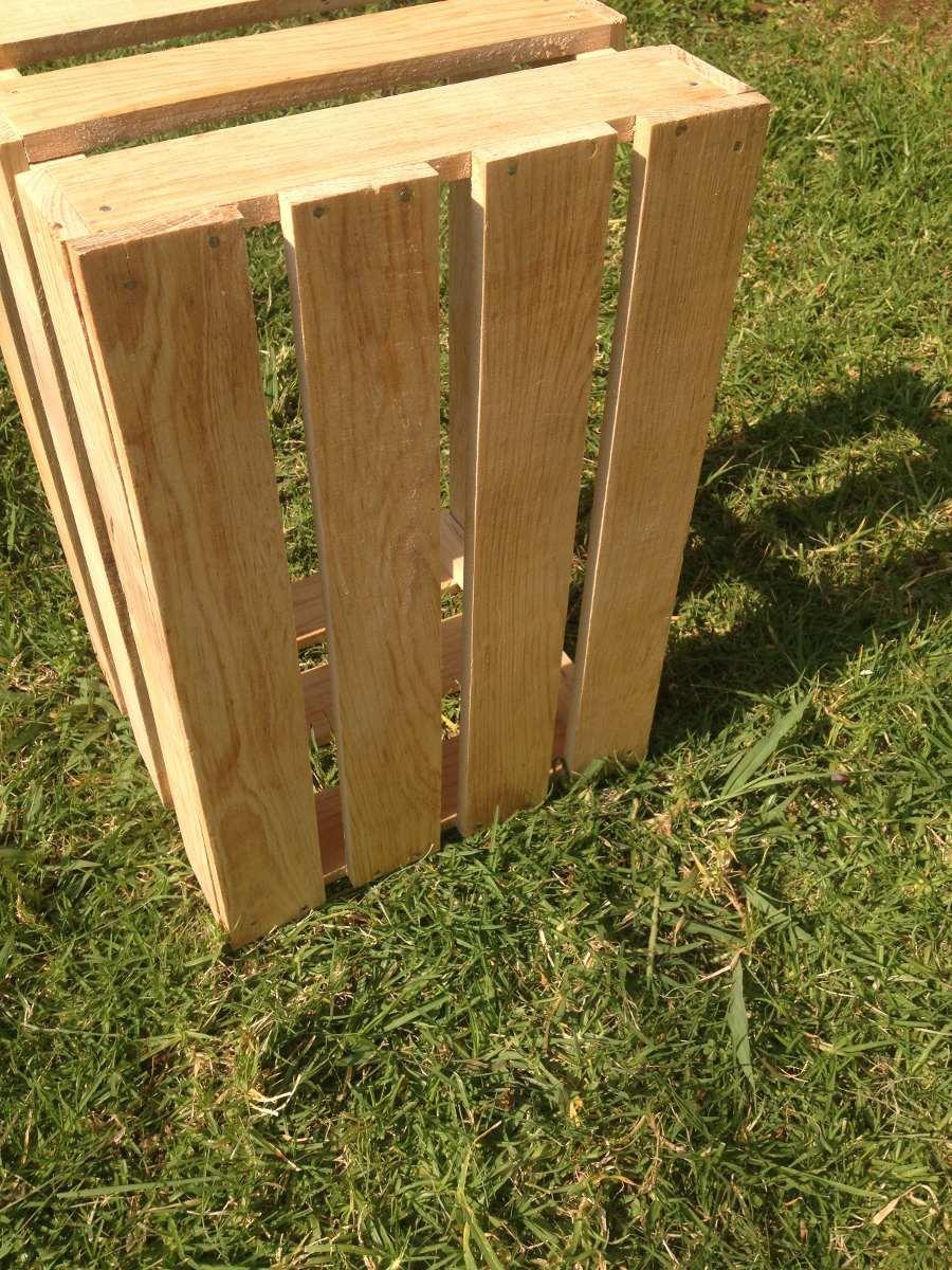 Huacal reja tama o 32x48x29 decoracion madera gruesa for Rejas de madera