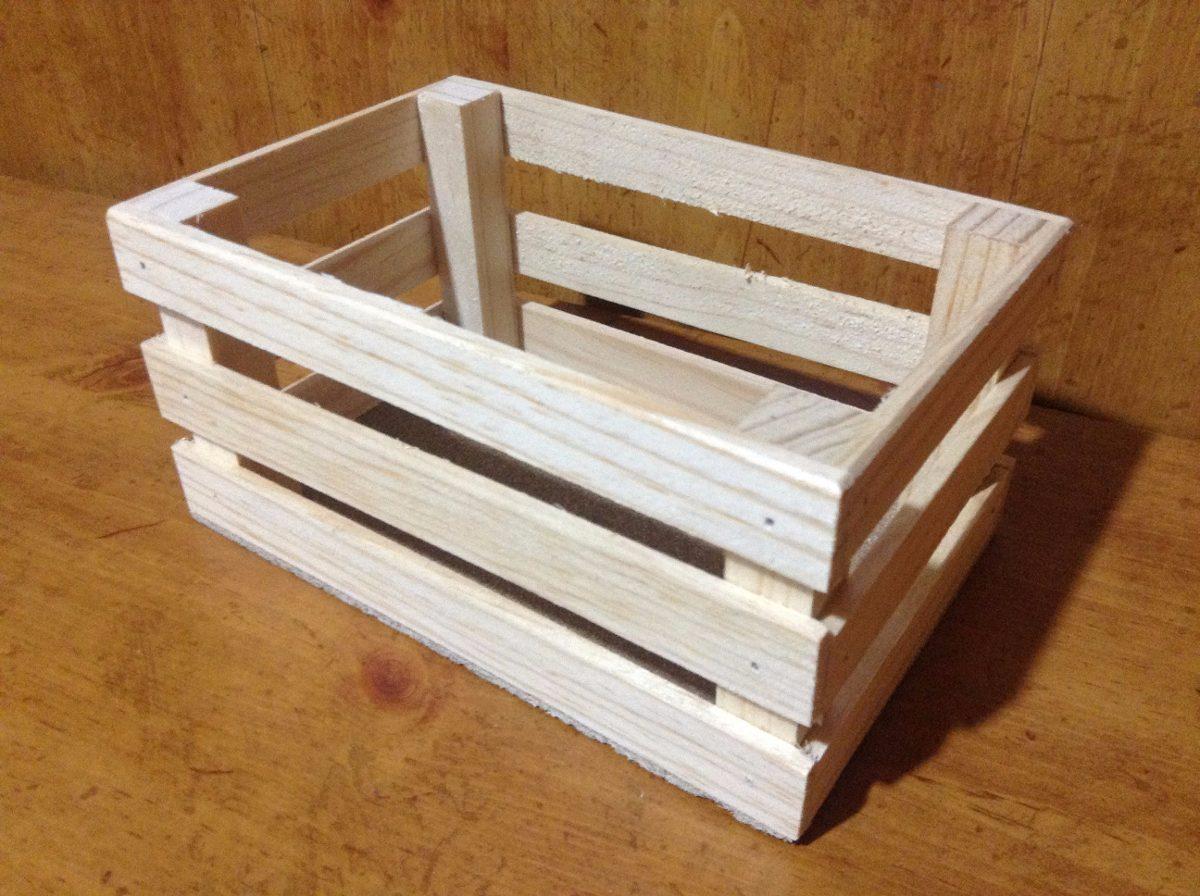 Huacal rejita madera manualidades trabajos escolares 12x18 - Hacer manualidades con madera ...