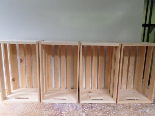 huacales de madera 6 piezas 1200 pesos con envio gratis