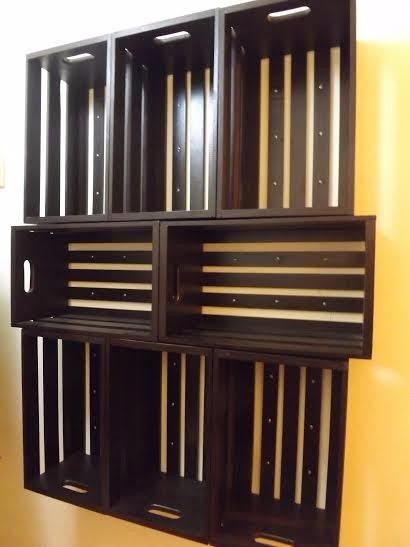 Huacales de madera en madera natural en mercado for Colores de muebles de madera