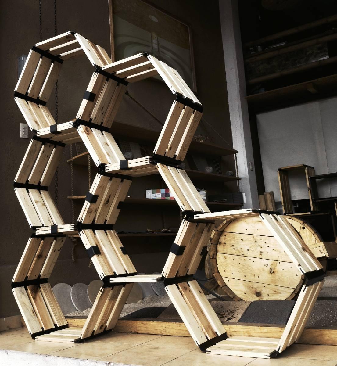 Huacalli hexagonal precio por hex gono de madera for Casillas de madera precios