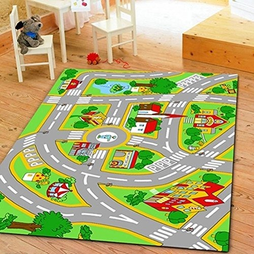Huahoo alfombra para ni os con caminos alfombra para ni o - Alfombras ninos ...