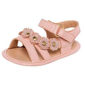 24ead3b75 Zapatos Glamour Rosa Metalico Charol Huaraches - Zapatos en Mercado ...