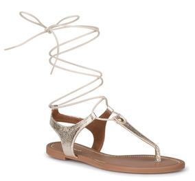 c418ab9b5 Sandalias Griegas Mujer Doradas Flats - Zapatos en Mercado Libre México