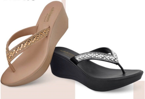 huaraches duo pack maquillaje y negro cklass 255