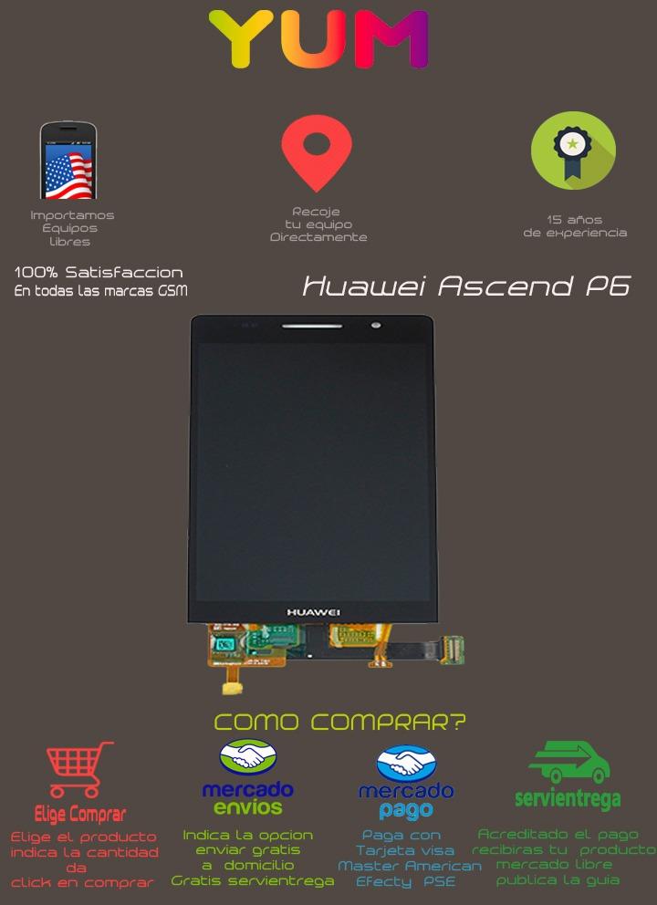 Huawei Ascend P6 P6-u06 Lcd Display Touch - $ 75 000 en