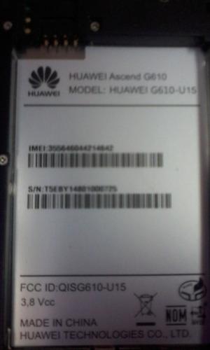 huawei g610-u15 con placa mala y cero detalles 35v