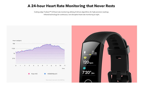 huawei honor banda 5 amoled smartwatch reloj inteligente