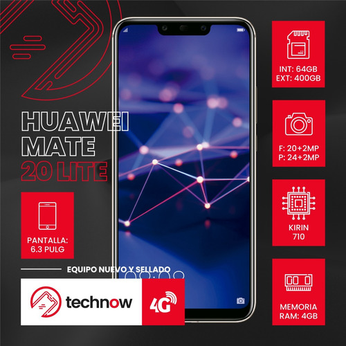 huawei mate 20 lite 64gb 4gb ram libre de fabrica sellado