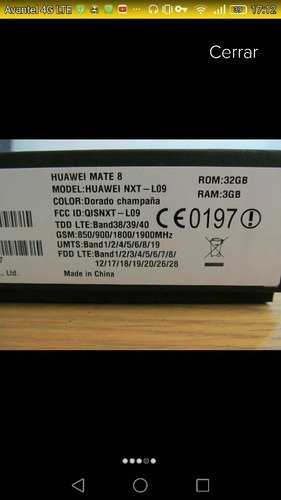 huawei mate 8 nxt- l29
