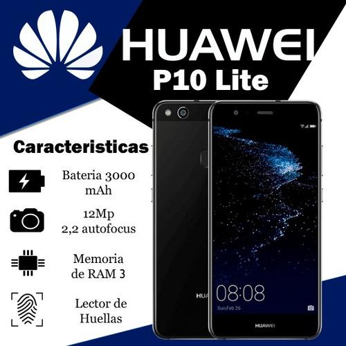 huawei p10 lite 5.2'' lte 32gb + mica de vidrio