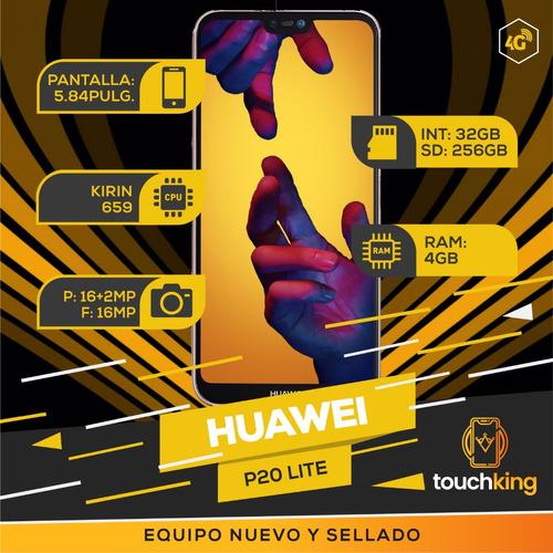huawei p20 lite 32gb ram 4gb libre de fabrica sellado - azul