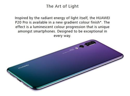 huawei p20 pro 128gb 6gb fhd 6,1  color twilight (aurora)