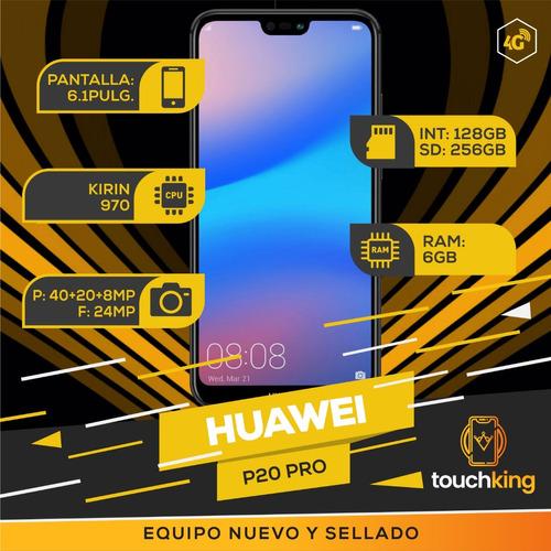 huawei p20 pro 128gb ram 6gb libre d fabrica sellado - negro