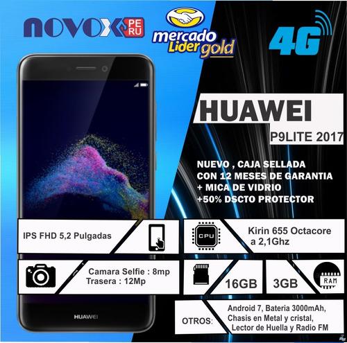 huawei p9lite 2017 sellado boleta+garantia tienda fisica