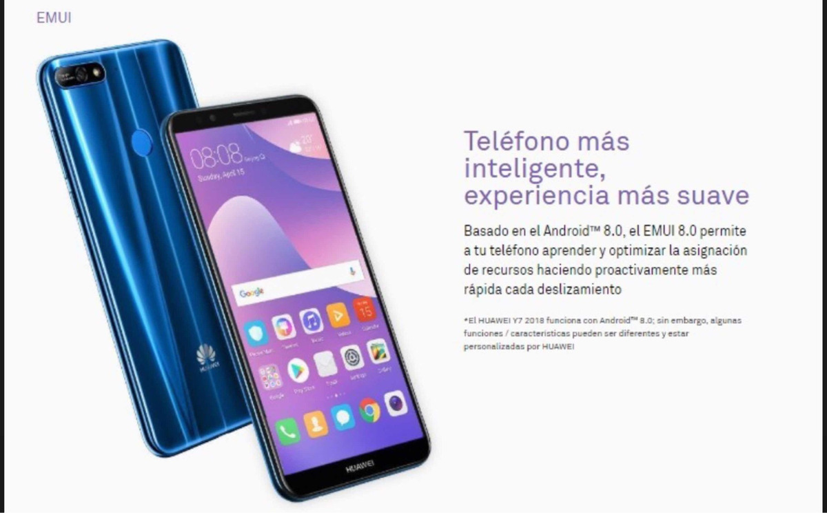 e28911738d680 huawei y7 2018 2gb 5.5 13mp 8mp 16gb azul at t. Cargando zoom.