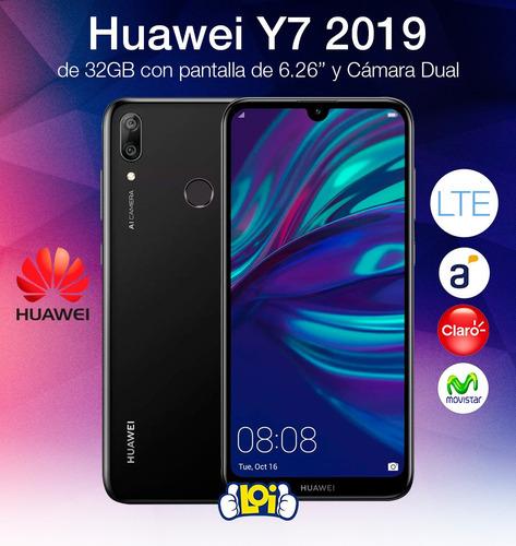 huawei y7 2019 32gb 3gb cám dual + estuche gtía oficial loi