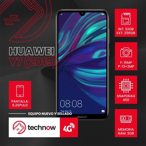 huawei y7 2019 32gb ram 3gb libre d fabrica sellado- rojo