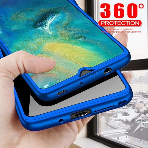 huawei y7 2019 estuche forro protector 360 + vidrio templado