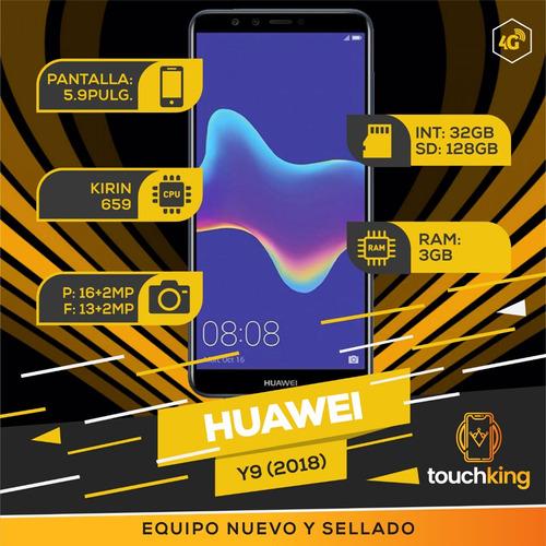 huawei y9 2018 32gb ram 3gb libre de fabrica nuevo- negro