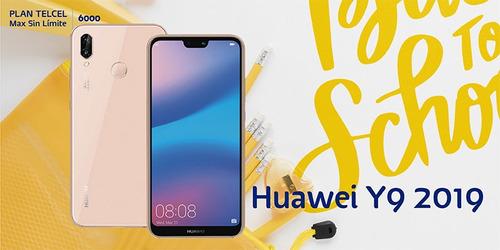 huawei y9 2019 sin costo inicial plan telcel max 6000 gratis