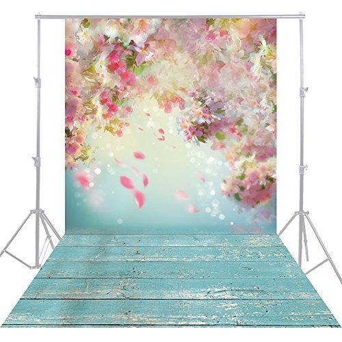 huayi 5x10ft flor de pared rosa fotografía fondos recién nac