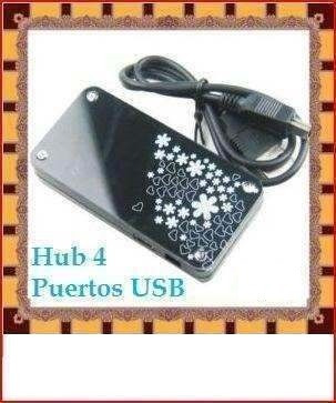 hub 4 puertos negro usb mini laptop pc mac galaxy new linux