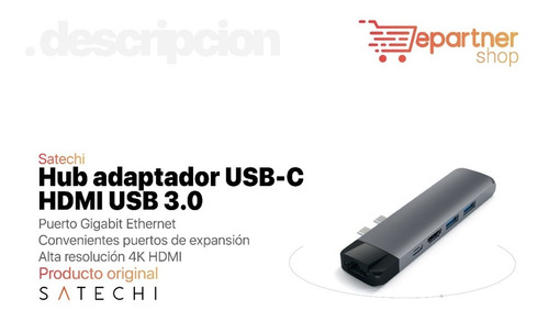 hub adaptador satechi usb-c macbook pro hdmi usb 3.0