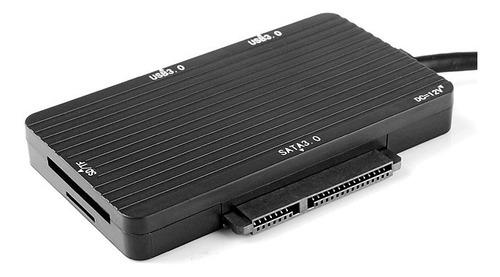 hub adaptador usb c a usb 3.0 x2 + lector memoria + sata 3.0