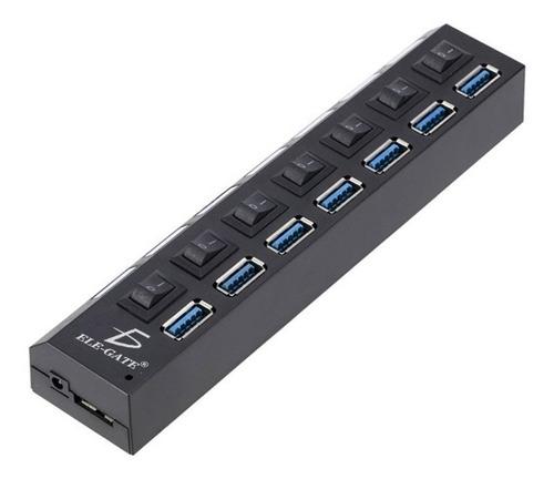 hub de 7 puertos usb 3.0, alta velocidad con switch, hub1430