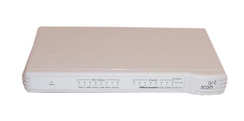 hub de 8 puertos 100/100 3com reacondicionado