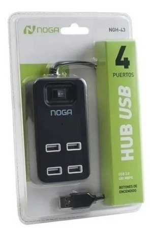 hub multiplicador usb x 4 puertos 2.0 480 mbps pc notebook