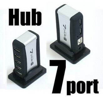 hub okystar usb 7 puertos con cargador de pared