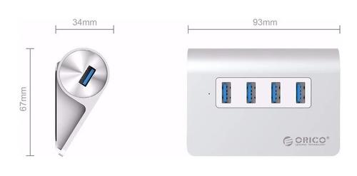 hub orico 4 portas usb 3.0 macbook apple windows aluminio