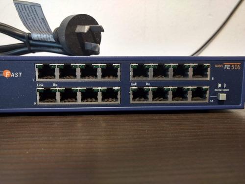 hub rackeable netgear 16 puertos 10/100 funciona perfecto