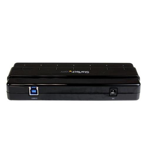 hub startech.com 7 puertos usb 3.0 alta velocidad+adaptador