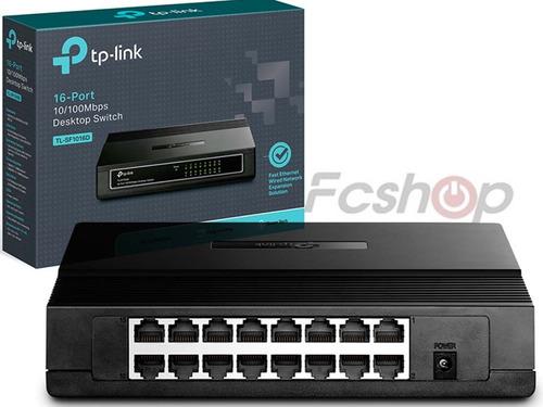 hub switch 16 portas 10/100mbps rede tp-link tl-sf1016d mesa