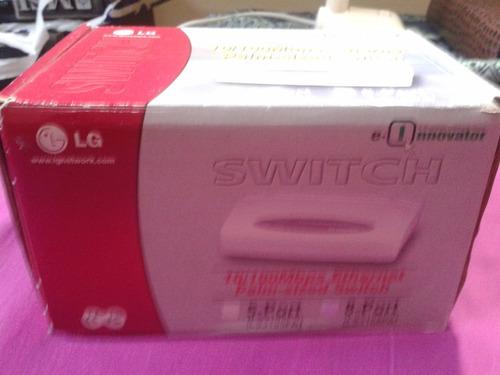 hub switch 8 portas 10/100mbps marca lg