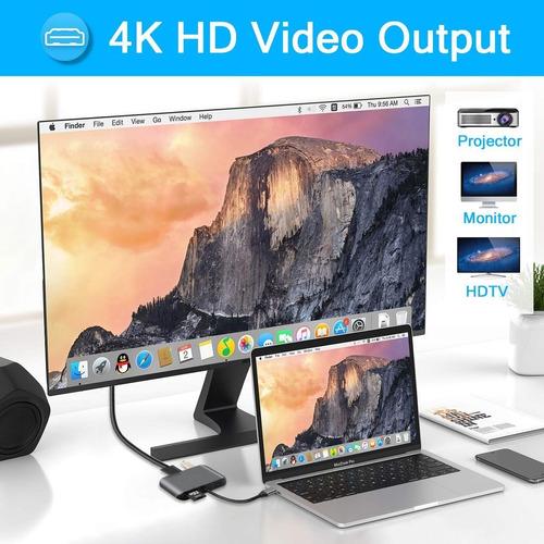 hub thunderbolt 3 - usb c  7 en 1 hdmi 4k rj45  macbook pro