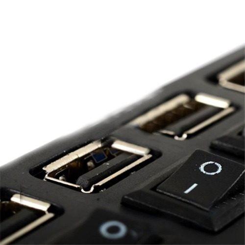 hub usb 2.0 compatible con 1.1 de 4 puertos para pc y laptop