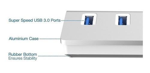 hub usb 3.0 slim metal 4 puertos  windows mac 5 gbps
