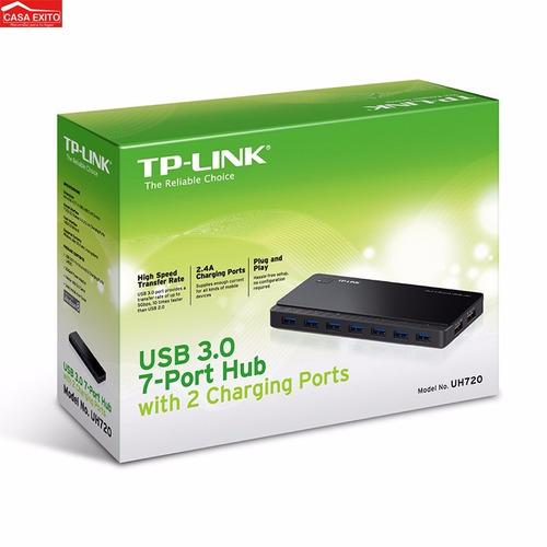 hub usb 7 puertos 3.0 + 2 puertos carga usb tp-link uh720