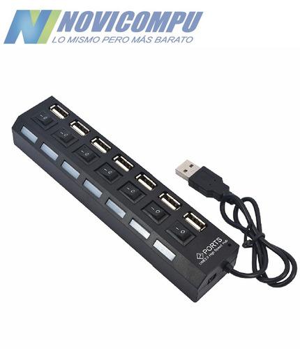 hub usb 7 puertos con switch extension marca one