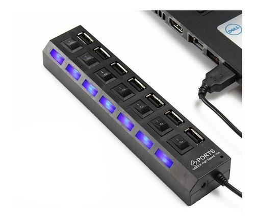 hub usb 7 puertos extensión multiplicador adaptador